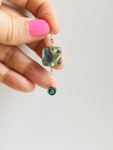 Abalone Geometry Earrings