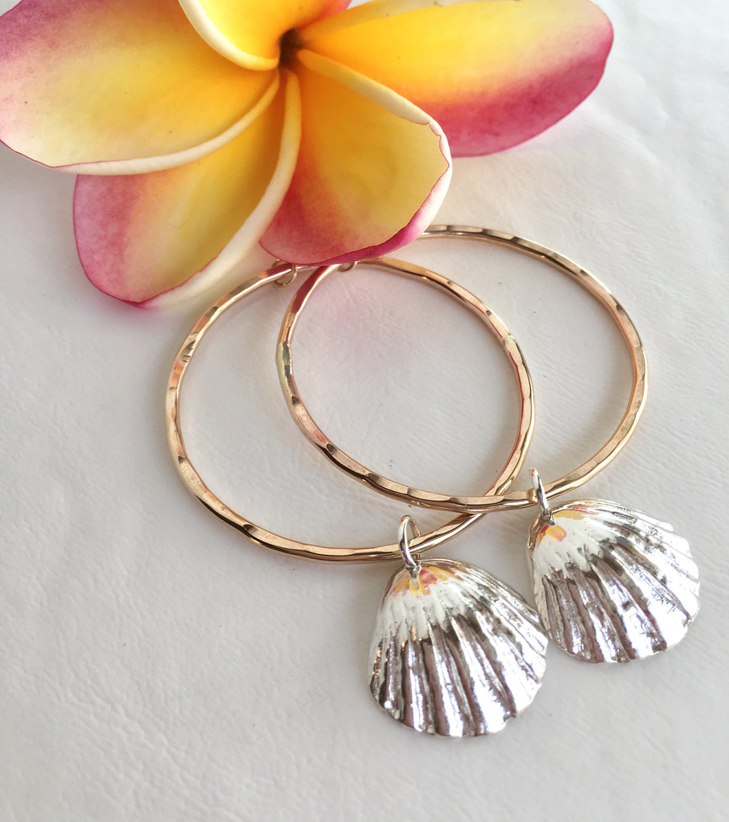 Sunrise Shell Hoops