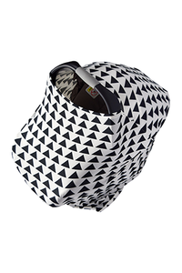 Navy & White Chevron Car Seat Covers, 5 in 1, Plus TWO FREE Baby Bandanas! FIVE COMBINATIONS to choose from! Infant Car Seat Cover, Nursing Cover, Shopping Cart Cover, Booster Seat Cover,