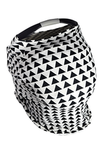 Grey & White Stripe Car Seat Covers, 5 in 1, Plus TWO FREE Baby Bandanas! FIVE COMBINATIONS to choose from! Infant Car Seat Cover, Nursing Cover, Shopping Cart Cover, Booster Seat Cover,