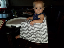 Black & White Triangle Car Seat Covers, 5 in 1, Plus TWO FREE Baby Bandanas! FIVE COMBINATIONS to choose from! Infant Car Seat Cover, Nursing Cover, Shopping Cart Cover, Booster Seat Cover,