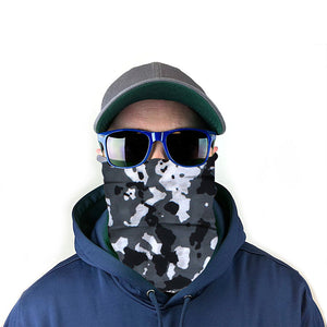 Black & White Camo 10-in-1 Neck Gaiter