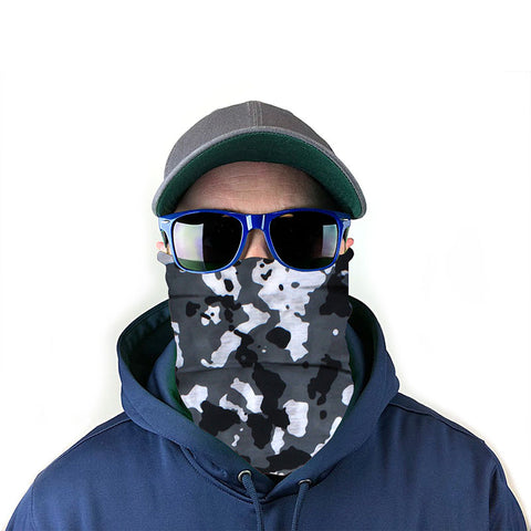 Image of Black & White Camo 10-in-1 Neck Gaiter