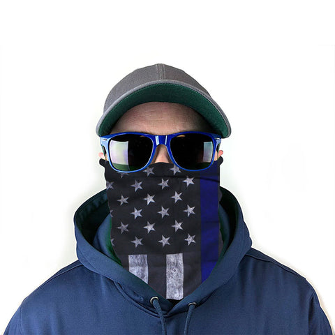 Blue Line Flag 10-in-1 Neck Gaiter