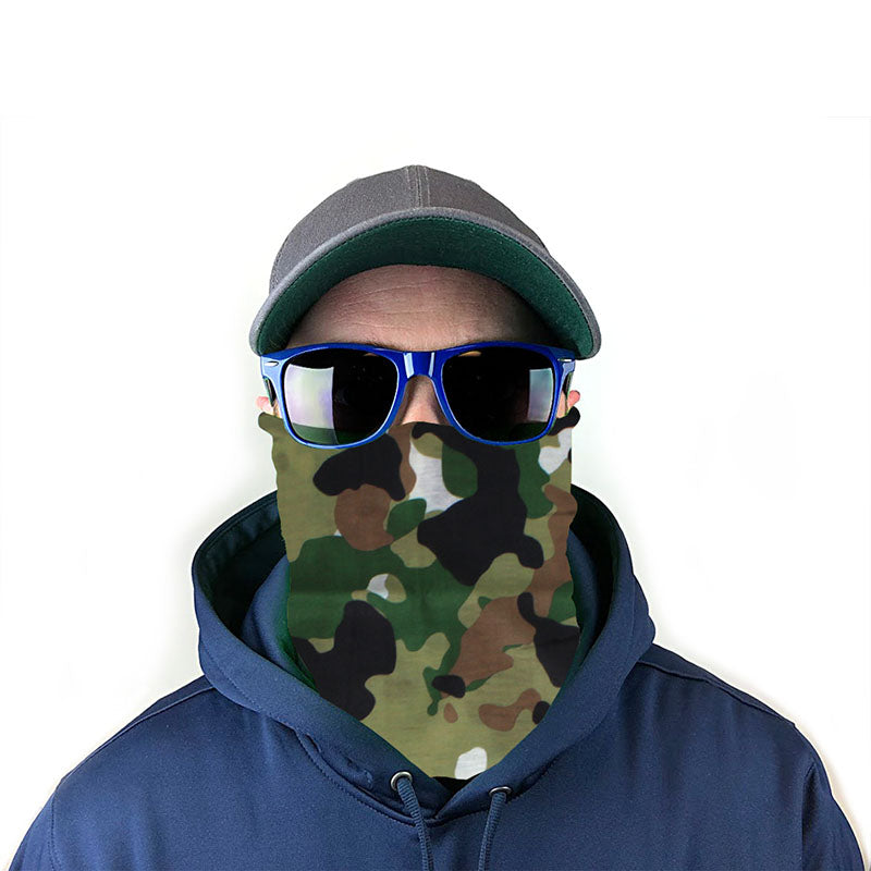 Woodland Camo 10-in-1 Neck Gaiter