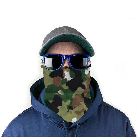 Image of Woodland Camo 10-in-1 Neck Gaiter