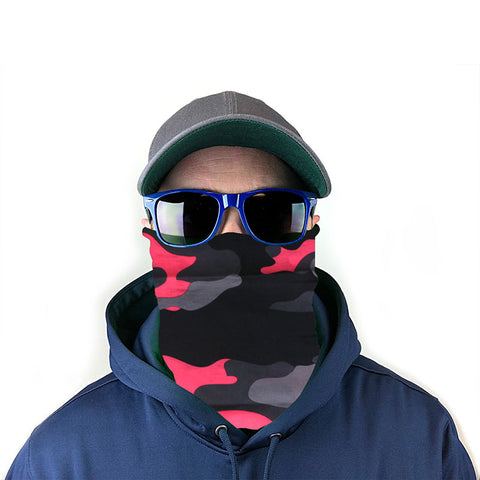 Image of Pink Camo 10-in-1 Neck Gaiter