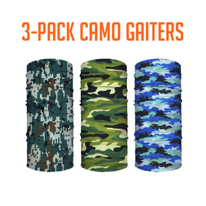 Camo 3-Pack Neck Gaiter Bundle