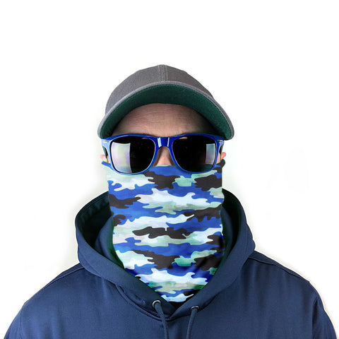 Image of Ocean Camo 10-in-1 Neck Gaiter