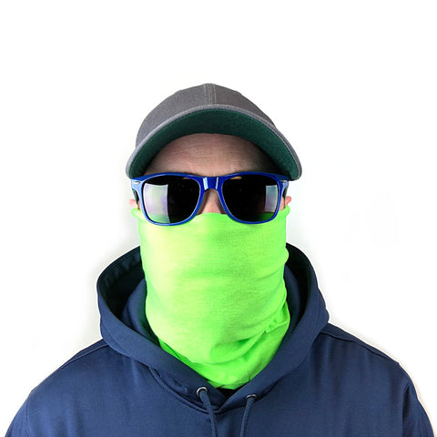 Image of Solid Lime Green 10-in-1 Neck Gaiters