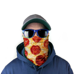 Pepperoni Pizza 100-Pack Neck Gaiter Bundle