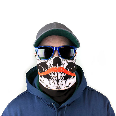 Image of Skull & Mustache 10-in-1 Neck Gaiter