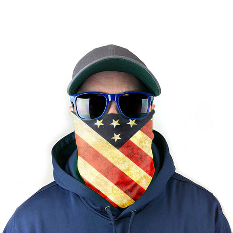 Image of Vintage Stars and Stripes 10-in-1 Neck Gaiter