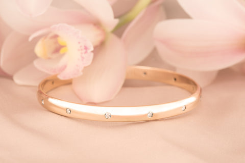 Remodeled Bangle from a Diamond Wedding Band