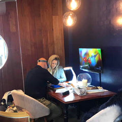 Melissa with Richard for her first design consultation