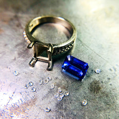 Custom made Jewellery - Tanzanite and Diamond Ring