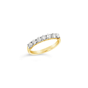 Half Carat Seven Stone Diamond Band