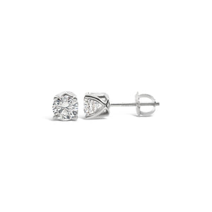 1 carat Diamond Solitaire Studs