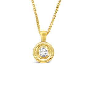 Gold Diamond Donut Pendant
