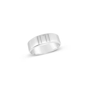 Gents 9ct White Gold 5mm Wedding Band
