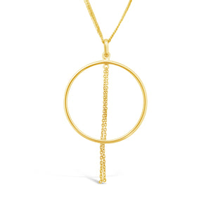 Yellow Gold Tassel Pendant