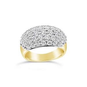 18ct Gold Diamond Dome Dress Ring