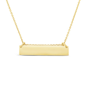 9ct Gold Bar Pendant Necklace
