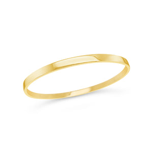 9ct Yellow Gold Flat Bangle