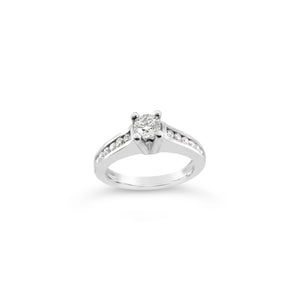 Palladium Diamond Solitaire Ring