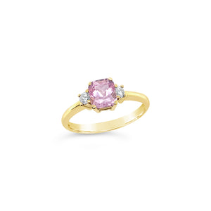 Pink Sapphire and Diamond Ring - Richard James Jeweller