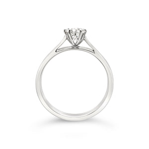 Platinum Half Carat Diamond Solitaire Ring