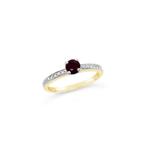 Ruby and Diamond Ring in Rose Gold - Richard James Jeweller