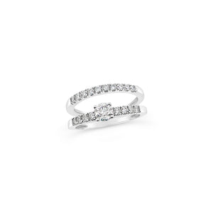 Diamond Engagement Ring and matching Diamond Wedder - Richard James Jeweller