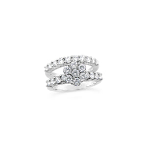 Diamond Engagement Ring and Matching Diamond Wedding Band - Richard James Jeweller