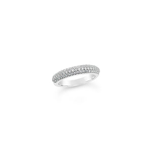 White Gold Micro Claw Diamond Ring