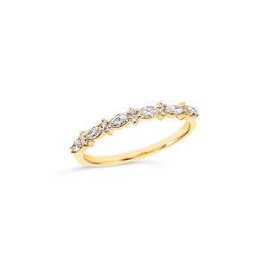 9ct Gold Marquise Diamond Ring
