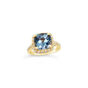 Blue Topaz and Diamond Dress Ring - Richard James Jeweller | Hawkes Bay, New Zealand