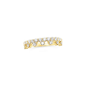 Yellow Gold Diamond 'Tiara' Ring