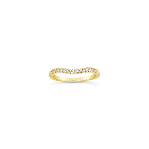 Yellow Gold Curved Band
