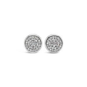 White Gold Rubover Diamond Studs