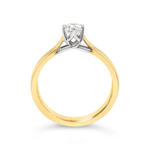 Yellow Gold Half Carat Diamond Solitaire Ring