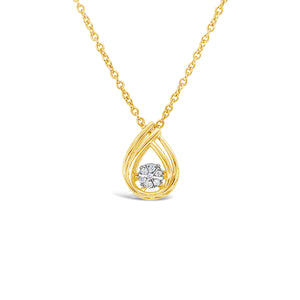 Yellow Gold Dancing Diamond Pendant