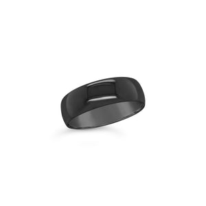 Gents Black Zirconium Wedding Band
