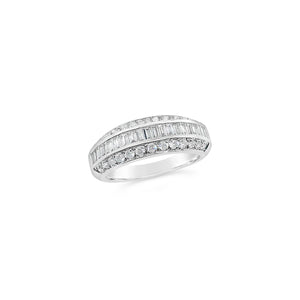 18ct White Gold Multi Diamond Dress Ring