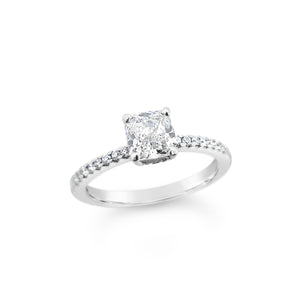 1.00ct Cushion Cut Diamond Engagement Ring | Richard James Jeweller, New Zealand