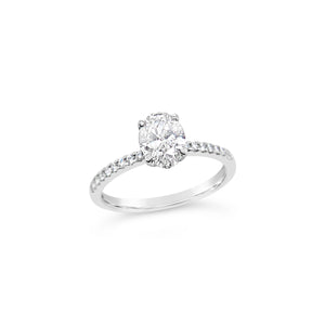 Platinum Antwerp Oval Diamond Solitaire Ring