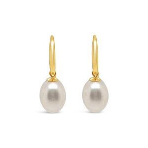 9ct Gold Pearl Drop Hook Earring