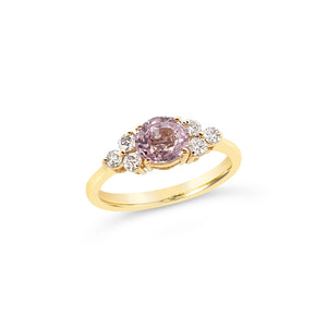 Light Pink Sapphire and Diamond Ring