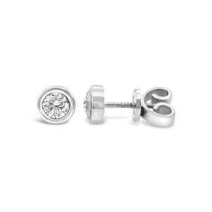 White Gold Bezel Set Diamond Studs