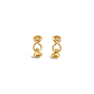 Gold Infinity Loop Earrings